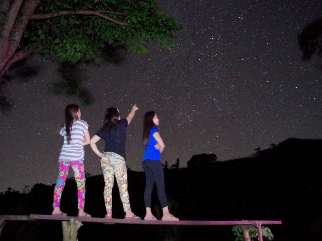 Hikers admire the night sky from the campsite of Mt. Batulao in this photo by Francis Ford Gomez.