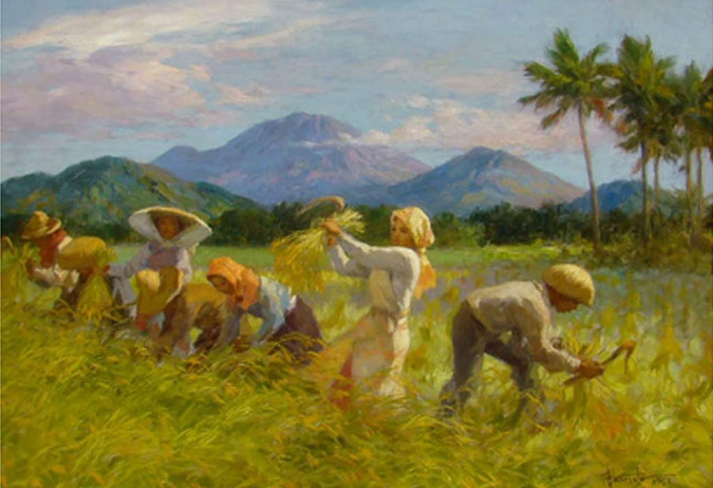 The mountains in fernando amorsolo 39 s paintings for Airbrushing mural