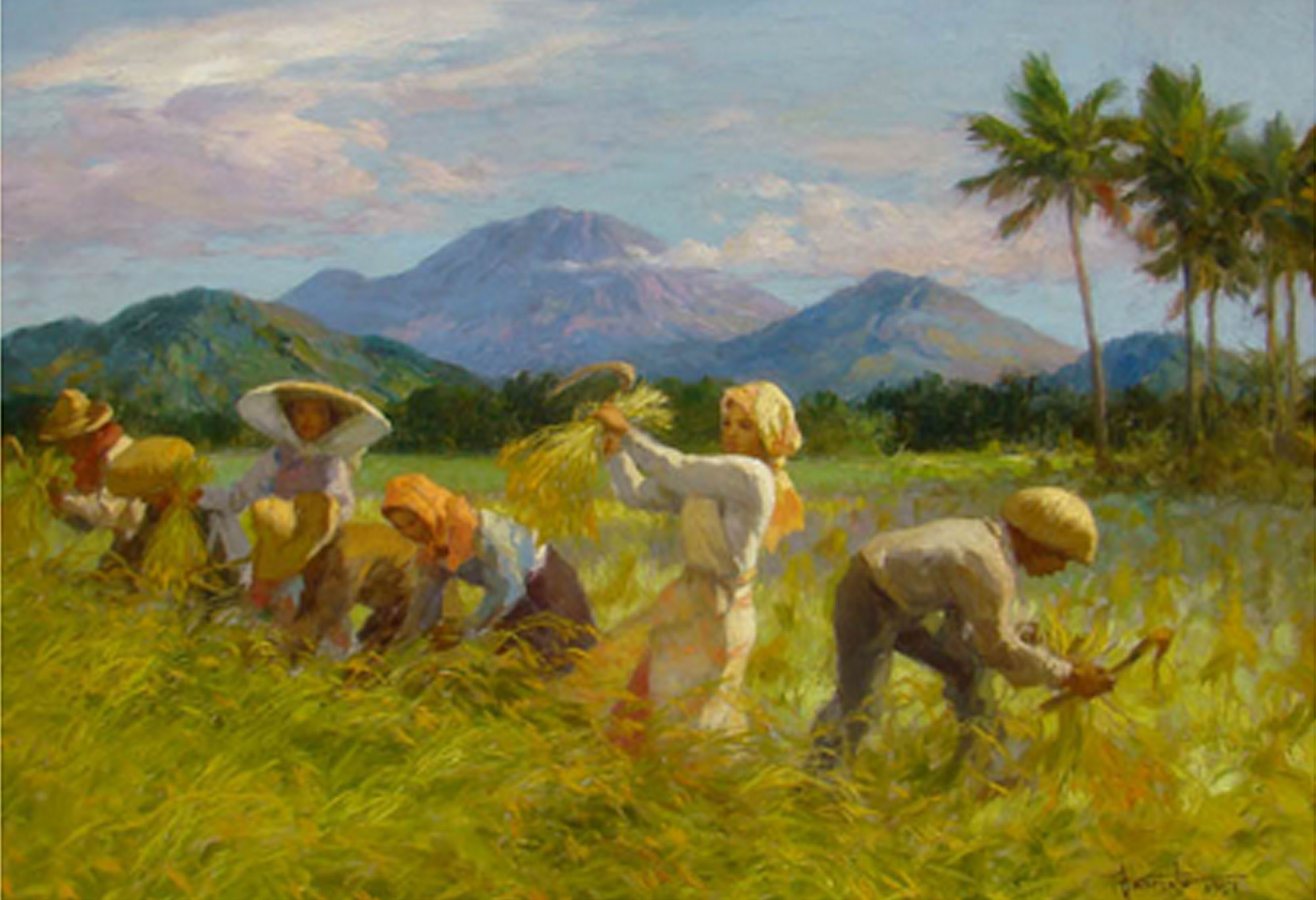 the mountains in fernando amorsolo 39 s paintings