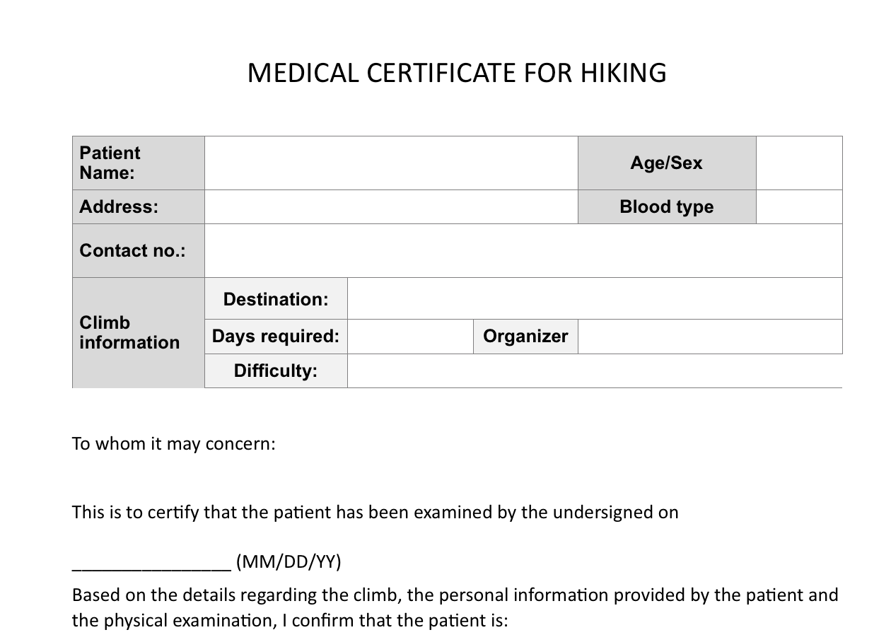 Climb health sample medical certificate for hiking pinoy screen shot 2015 12 03 at 95410 am yadclub Image collections