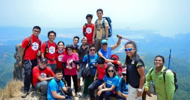 Nine visually-impaired first-time hikers reach Pico de Loro summit