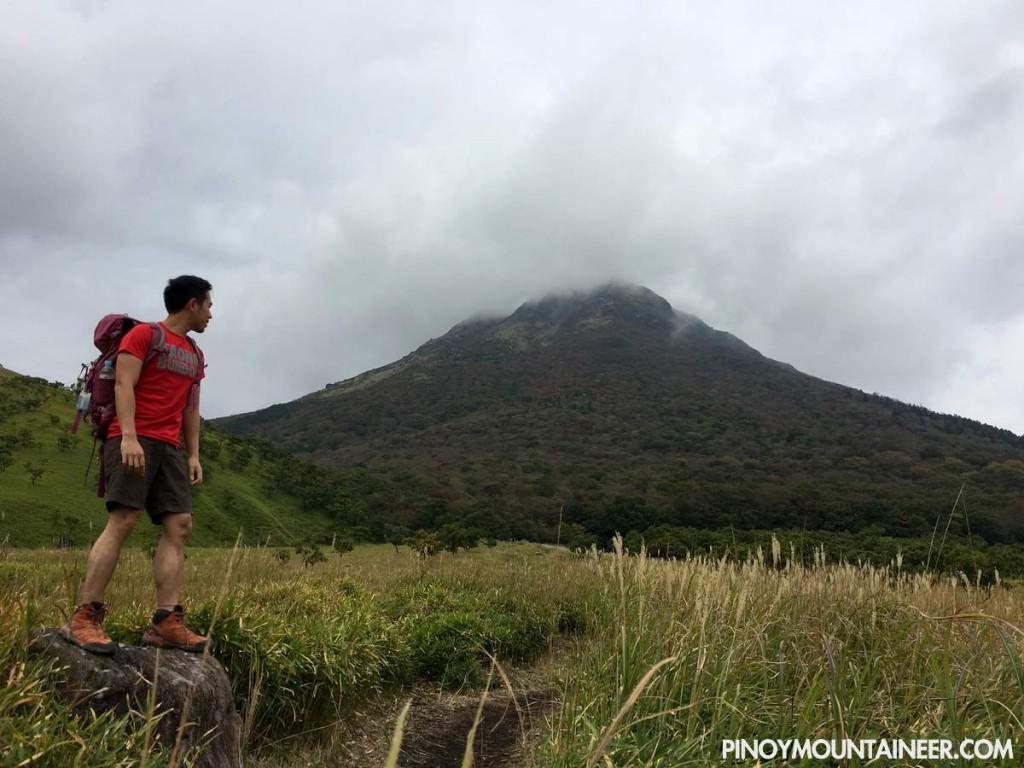 Hiking up Mt. Yufu in Kyushu, Japan